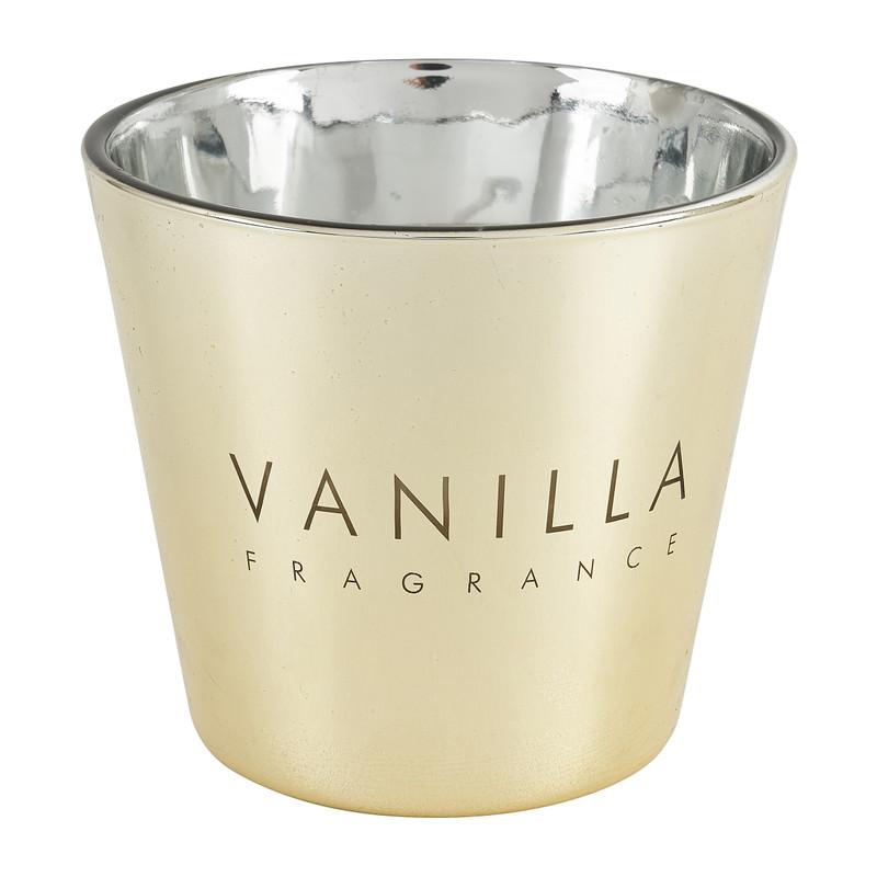 Vanillekaars in glas - goud - �9x8.3 cm