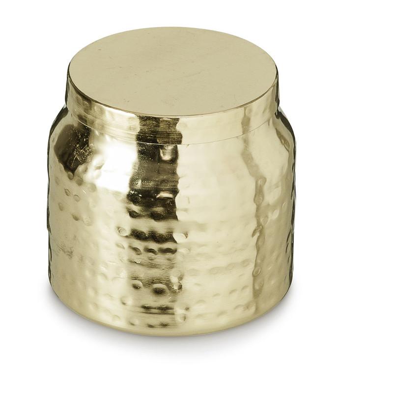 Kaars in pot - goudkleurig - 9.5x9 cm