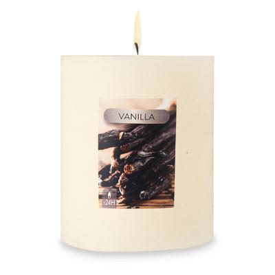 Geurkaars rustiek - vanilla - 8x6.5 cm