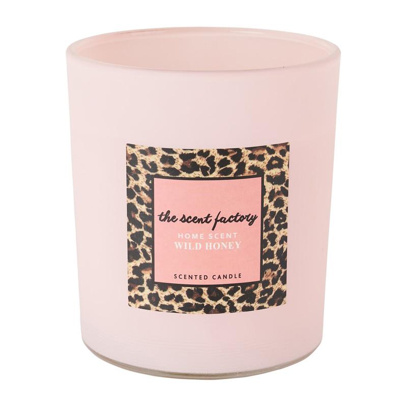 Home scent kaars in glas - Wild Honey - ⌀8.8x10 cm