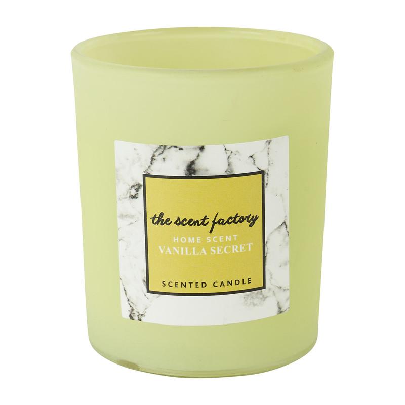 Home scent kaars in glas - Vanilla Secret - 6x7.5 cm