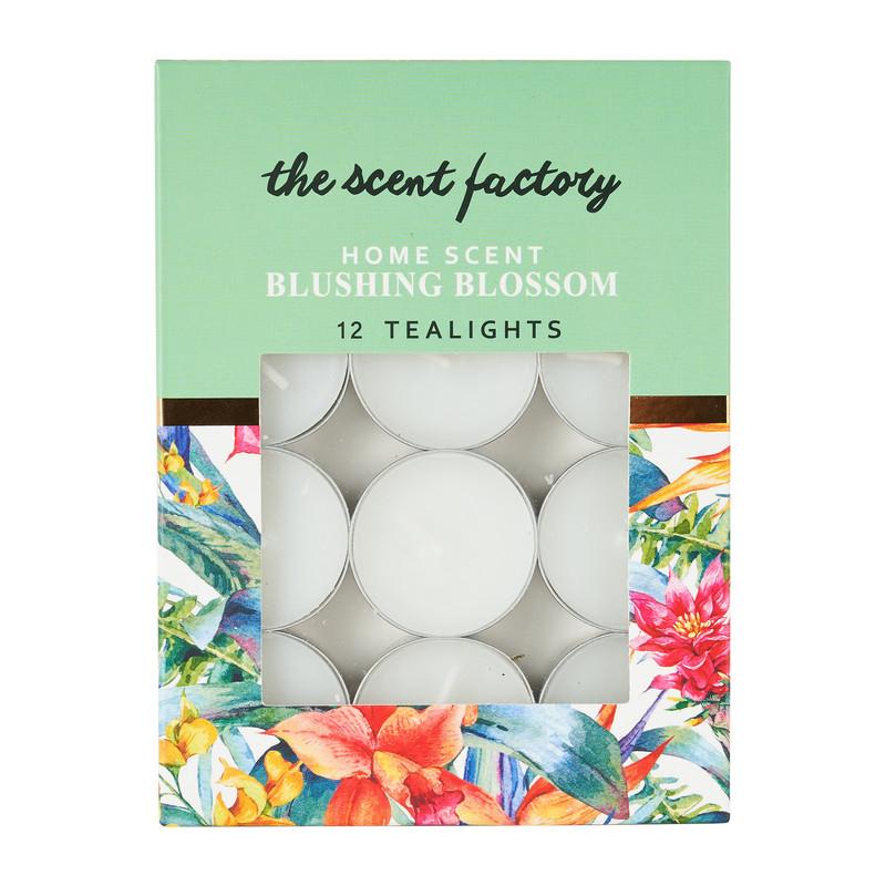 Home scent theelicht met geur - Blushing Blossom - set van 12