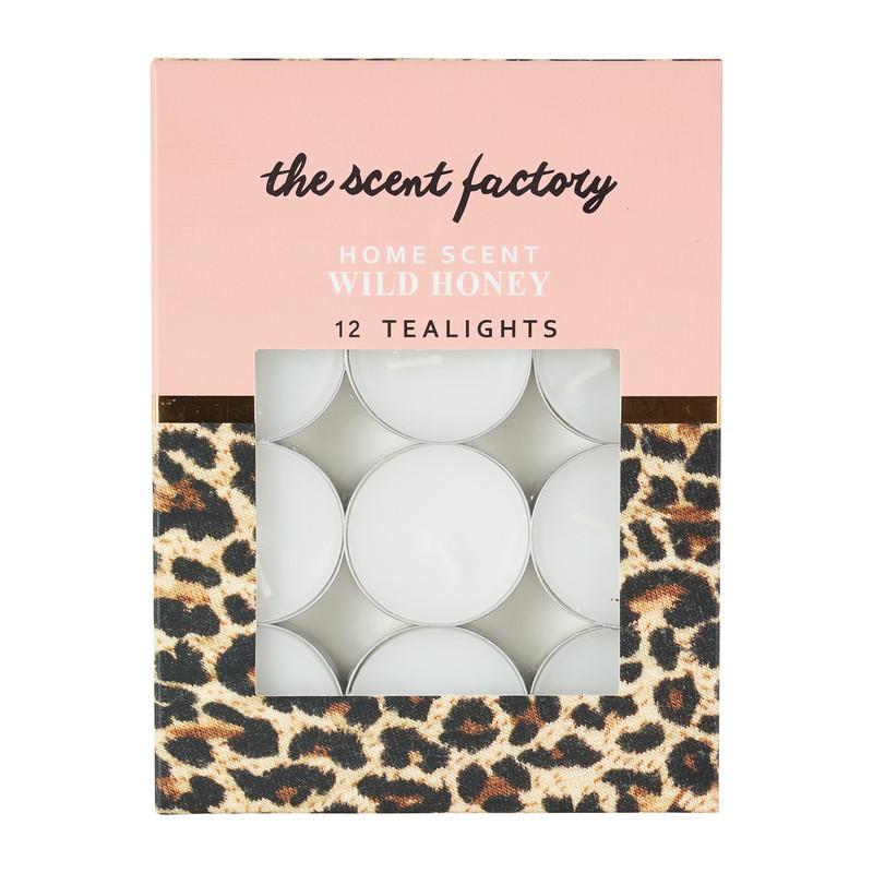 Home scent theelicht met geur - Wild Honey - set van 12