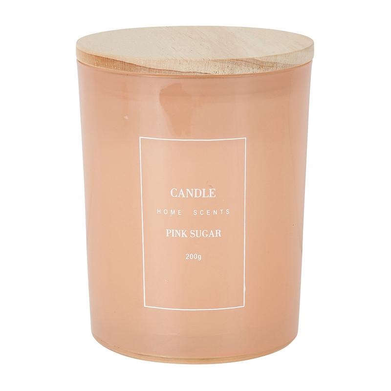Geurkaars - pink sugar - 8x10 cm