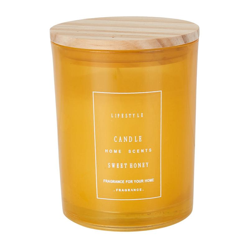 Geurkaars - sweet honey - 8x10 cm