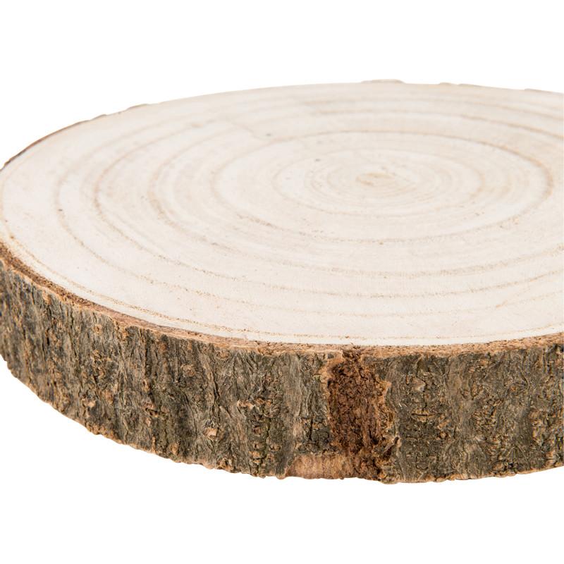 Decoratie plateau hout - 19 cm