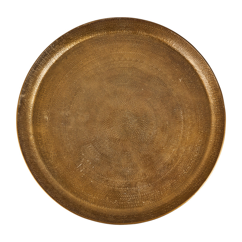 Decoratieplateau reliëf - antiek goud - Ø29 cm