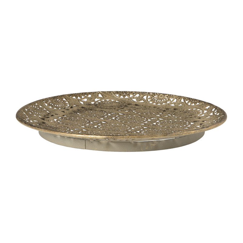 Marrakesh plateau - goud - 35 cm
