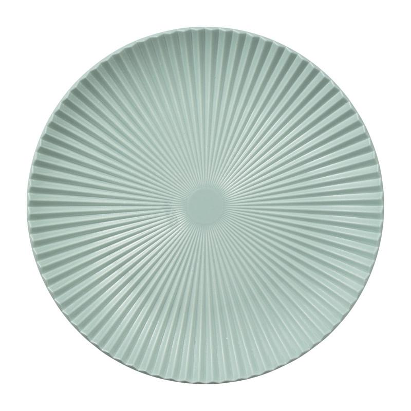 Decoratieplateau ribbel - blauw - ⌀40 cm