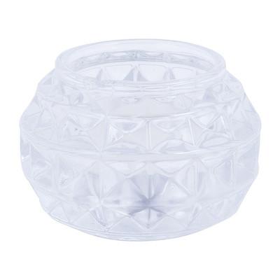 Theelichthouder diamant -  helder - 7x5 cm