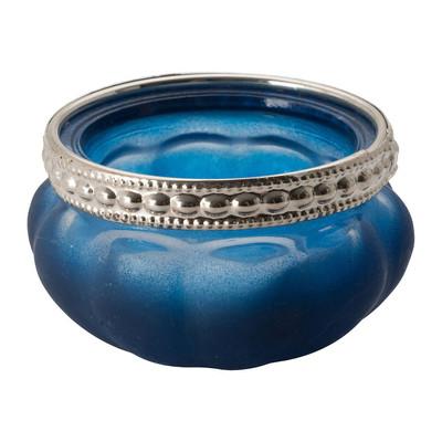 Theelichthouder Maroc - donkerblauw - 3.5x6 cm