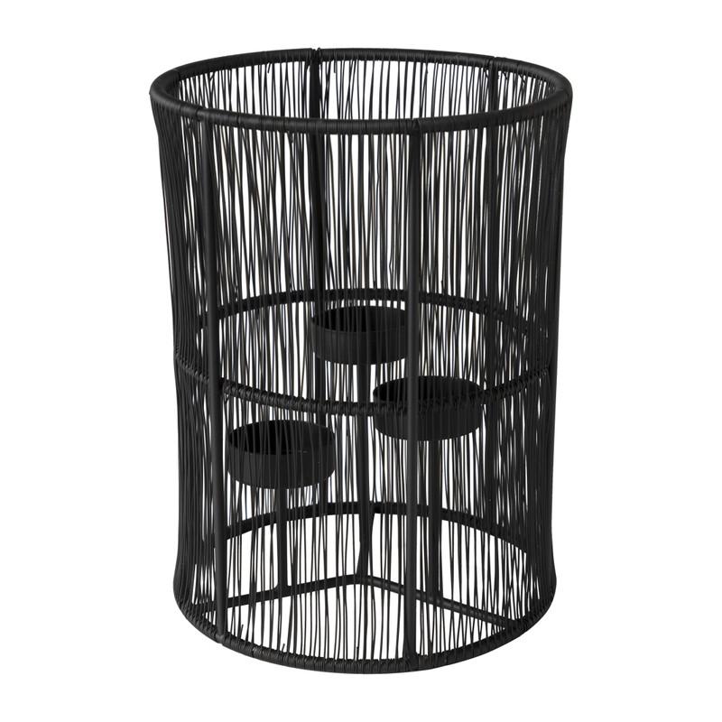 Lantaarn draad - zwart - ⌀15x20 cm