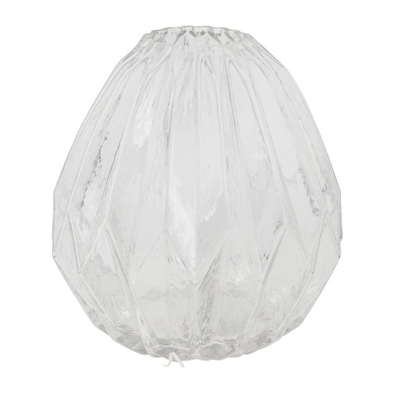 Vaas ribbbel - transparant - 17.5x17.5 cm