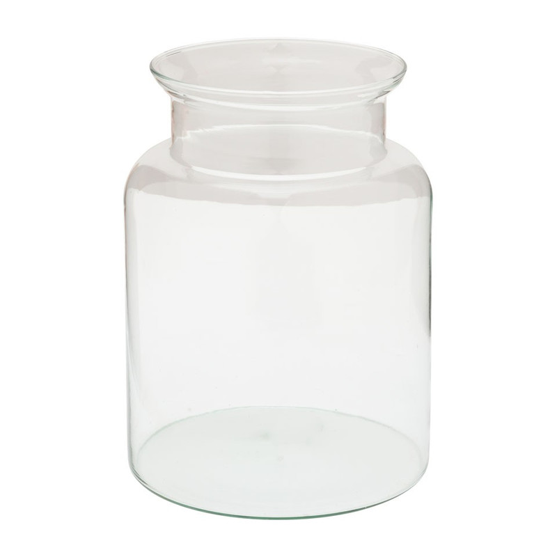 Vaas met kraag eco glas - 18.5x26 cm