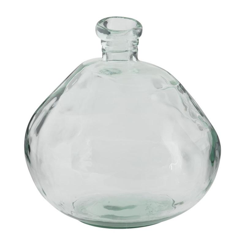 Bolvaas - gerecycled glas - 34x32 cm