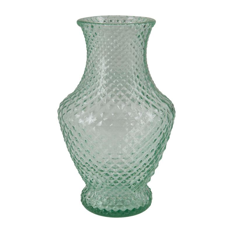 Vaas met ruitstructuur - 30 cm hoog