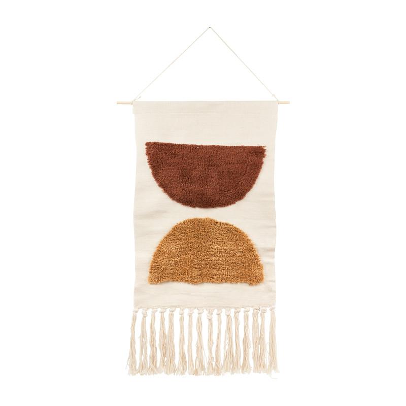 Wandhanger Tuft met franjes - 70x50 cm