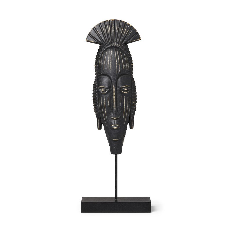 Staande deco nomad - zwart - 10,3x4x39,8 cm