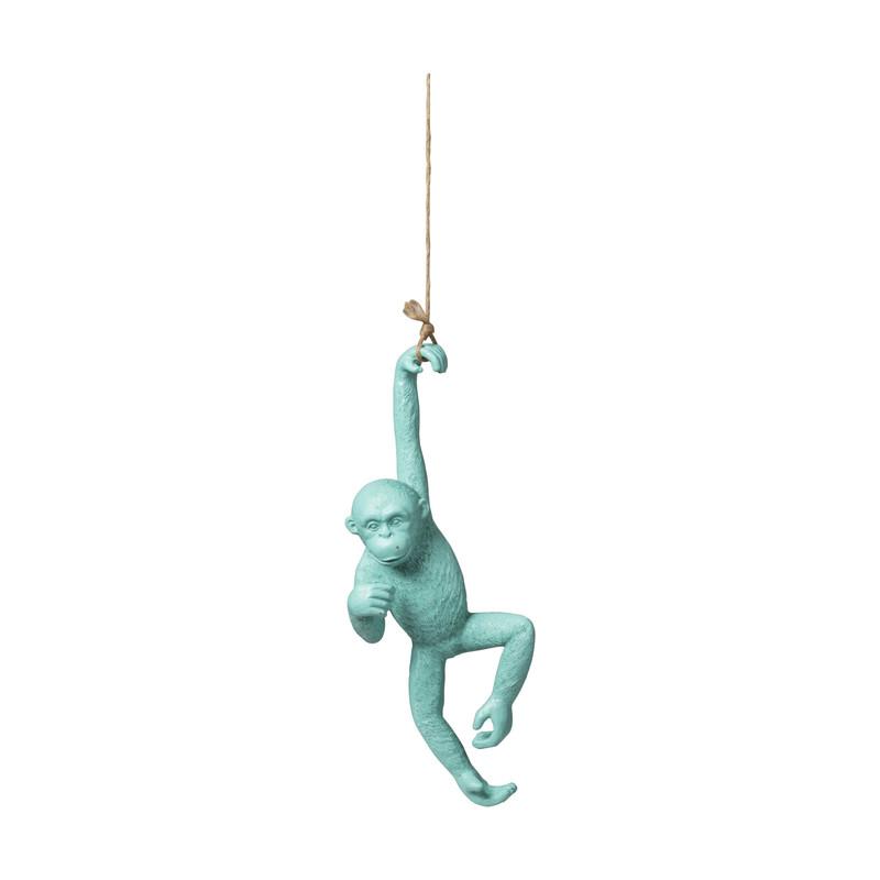 Hangende aap - blauw - 38x15.5x8 cm