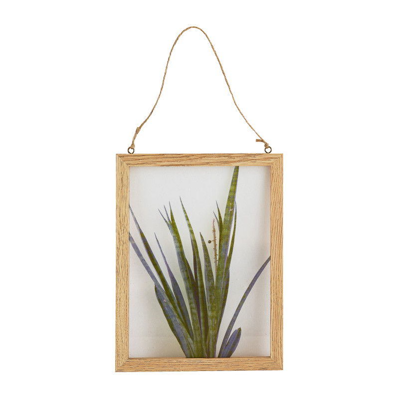 Schilderij plant - 15x21 cm