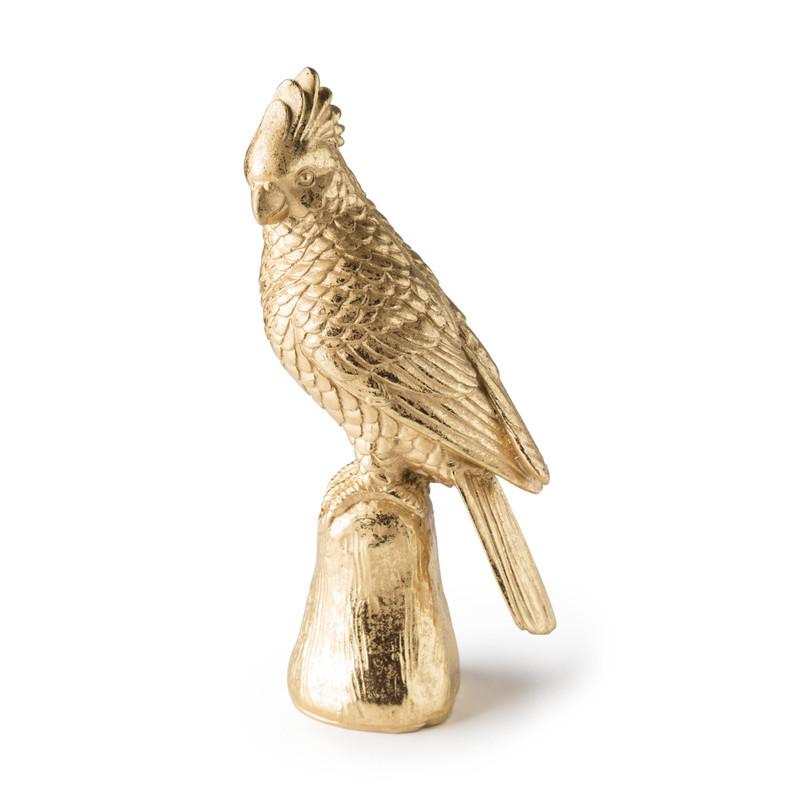 Vogel - goud - 11x9x28 cm