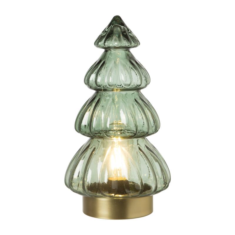 Lamp kerstboom - groen - ⌀15x28 cm
