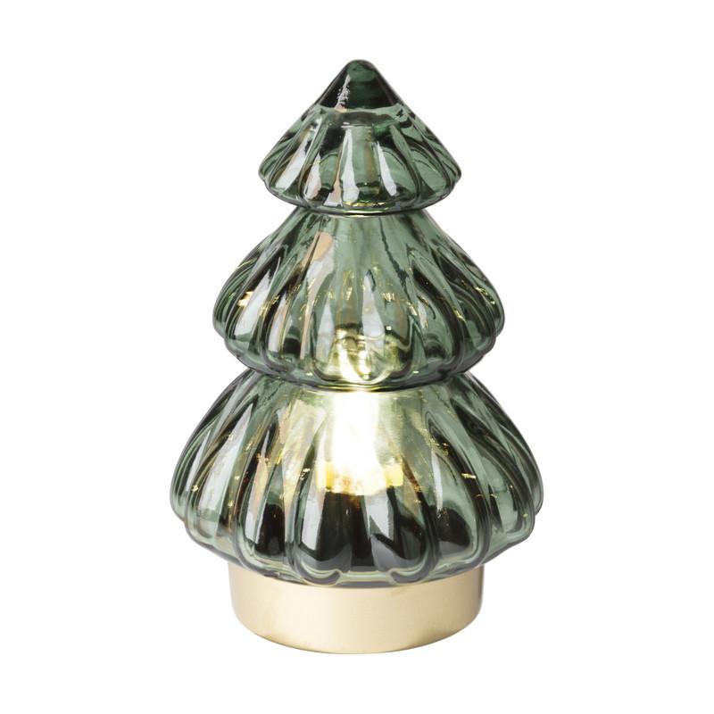Lamp kerstboom - groen - ⌀12x18.5 cm