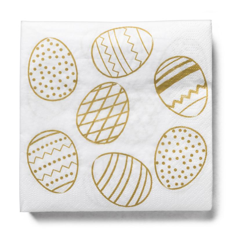 Gouden ei tafelkleed en servetten combiset