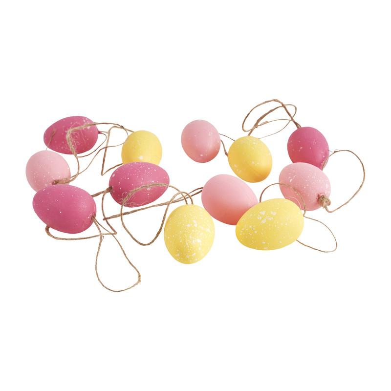 Paaseitjes roze geel 12 stuks