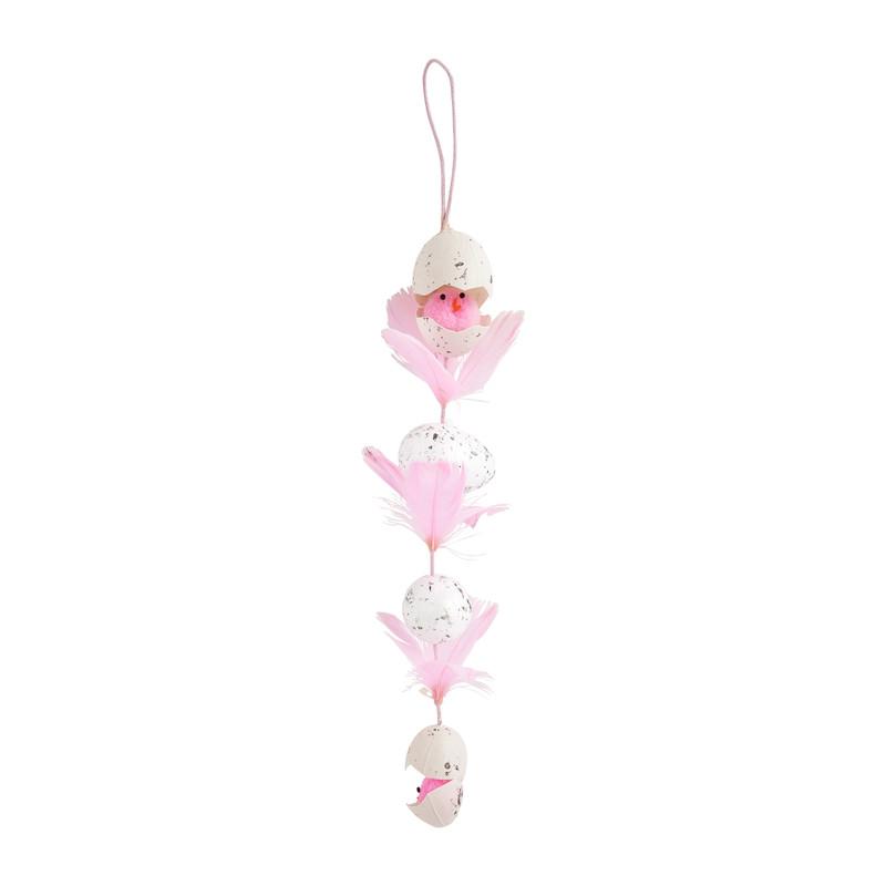 Paaseitjes hangdecoratie roze 30 cm