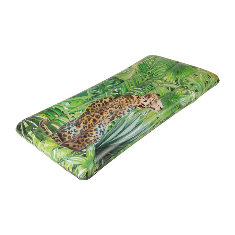 Luchtbed luipaard - groen - 180x90 cm