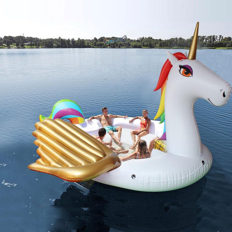 Unicorn eiland XL - voor 6 personen - 480x440x250 cm