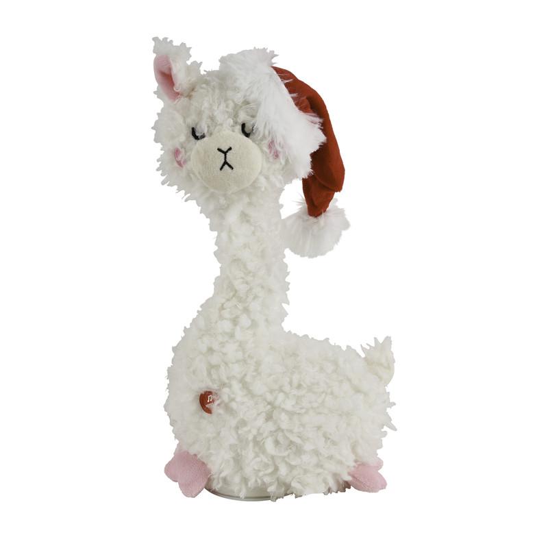 Dagaanbieding - Knuffel alpaca met muziek dagelijkse koopjes