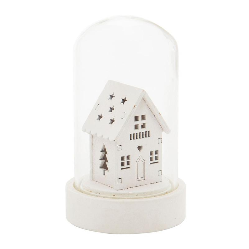 Deze leuke mini stolp is een sfeermaker in huis. in het glazen stolpje staat een liefelijk kersthuisje. het ...