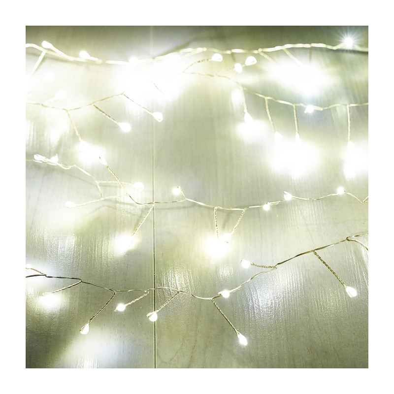 Draadverlichting - zilver - 100 led lampjes