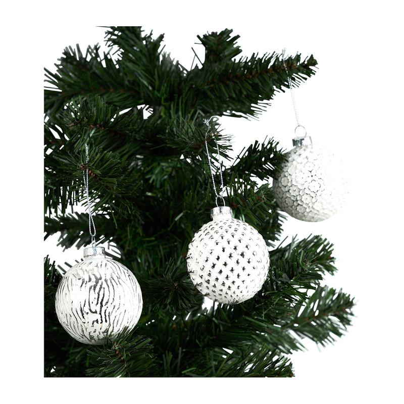 Kerstballen - wit - 3 stuks