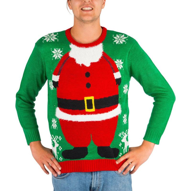 Kersttrui Santa met verlichting - M/L