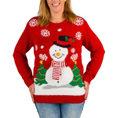 Foute Kersttrui Led.Kersttrui Snowman Met Muziek Xs S Xenos Nl