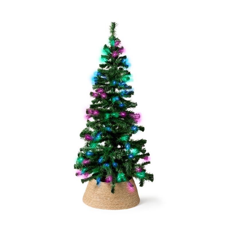 Fiber optic kerstboom - groen - 180x75 cm