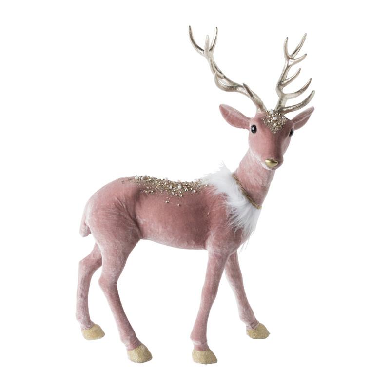 Rendier - roze - 40x20x56 cm