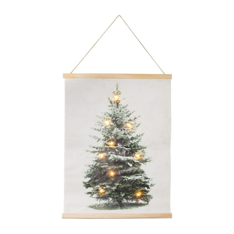 Poster met licht - kerstboom - 45x60 cm