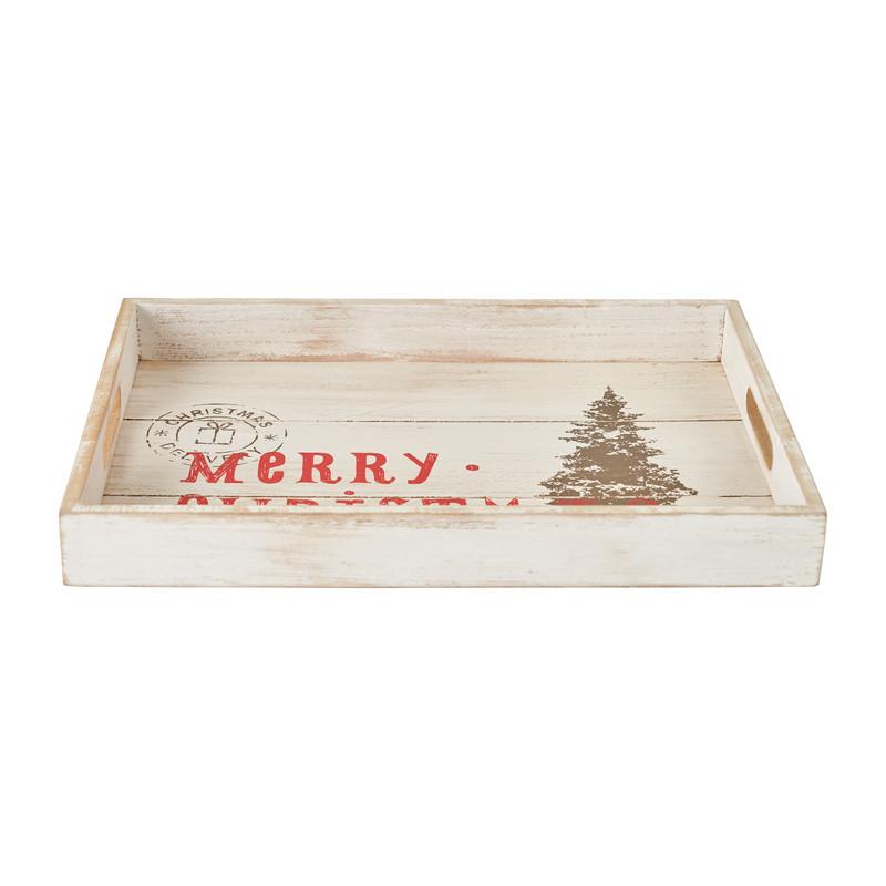 Dienblad Merry Christmas - 35x25x4 cm