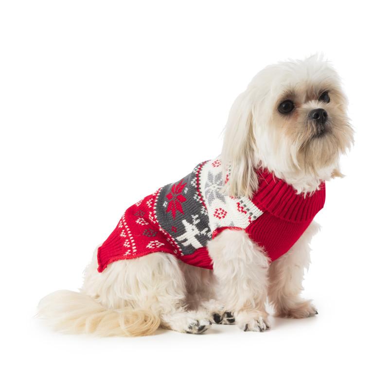 Kersttrui voor dieren - rood