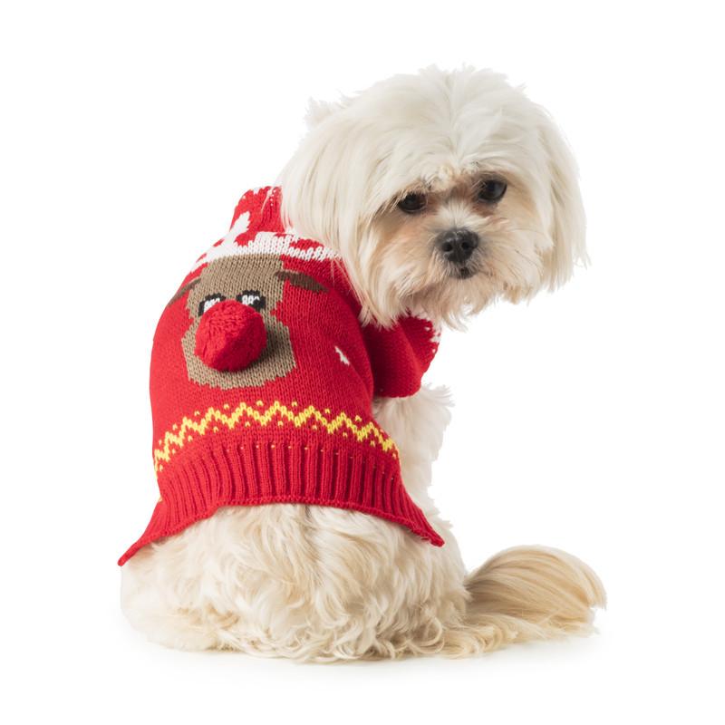 Kersttrui voor dieren - rendier