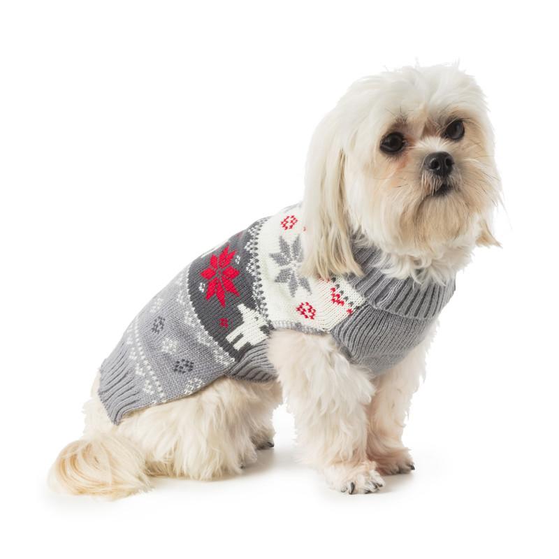 Kersttrui voor dieren - grijs