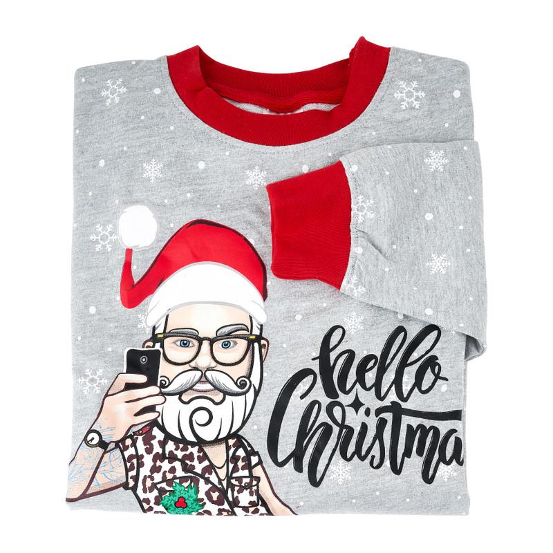 Kersttrui santa selfie - M/L