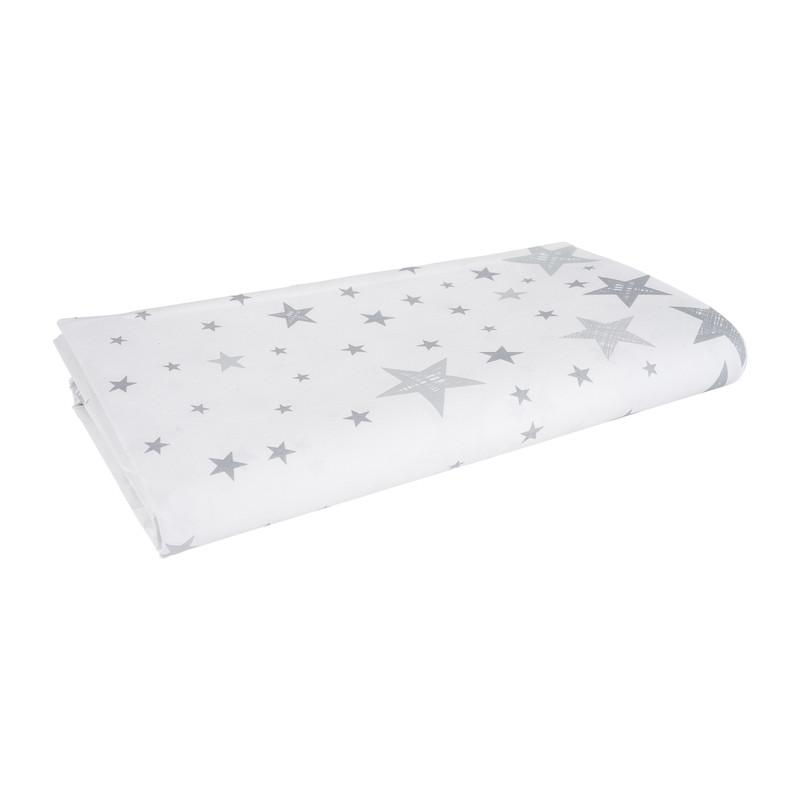 Duni tafelkleed - star silver - 138x220 cm