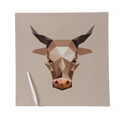 Notitieboek 21x21 cm - koe