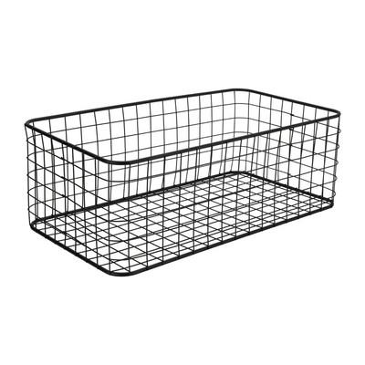 Lademand gevlochten metaal - zwart - 25x45x16 cm