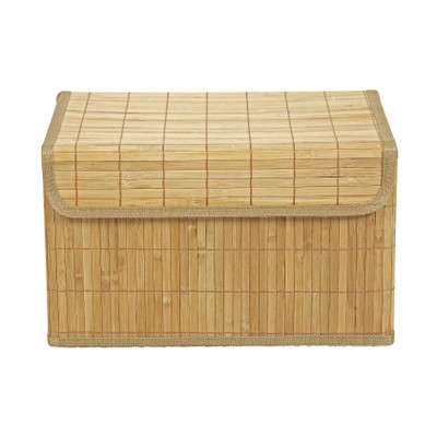 opbergmand bamboe latjes 30x41x24 cm